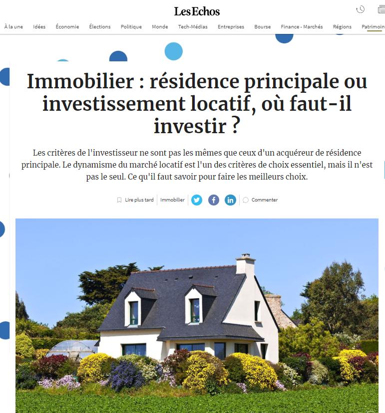 investissement immobilier - Quintésens