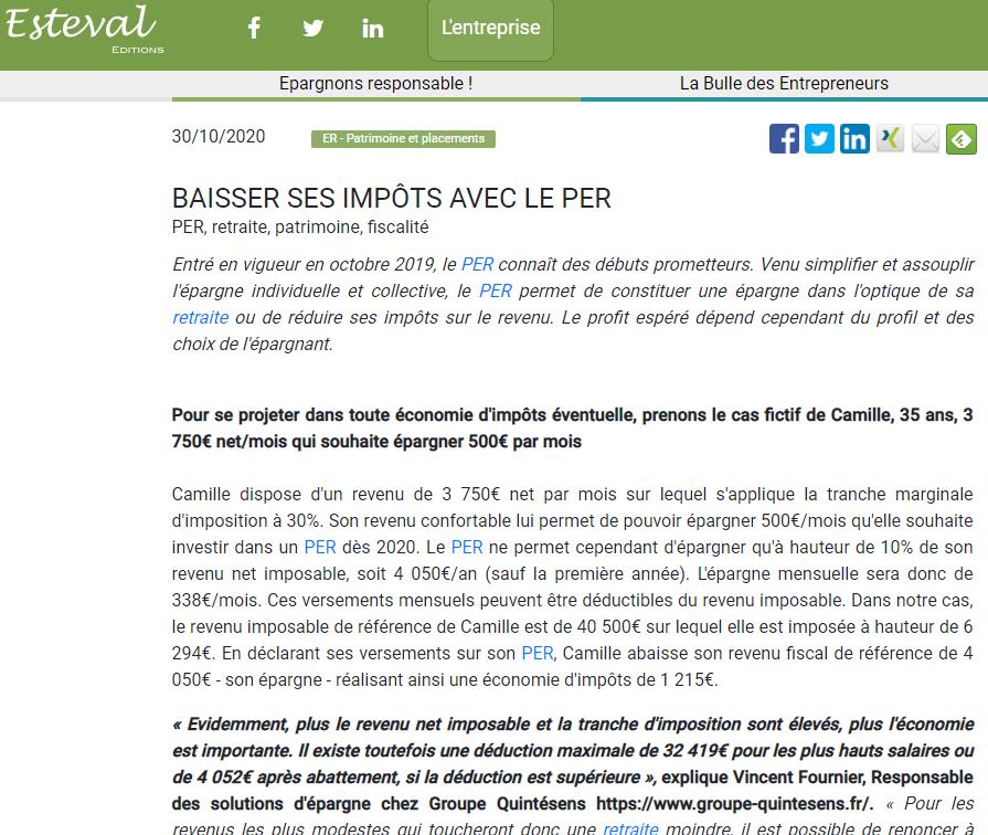 article - PER - Vincent Fournier